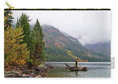 Carry-all Pouch featuring the photograph Yellowstone Lake Fall by Broderick Delaney