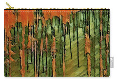 Yellowstone On Fire 2 Carry-all Pouch by David Hansen