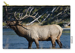 Yellowstone Park Elk Carry-all Pouch