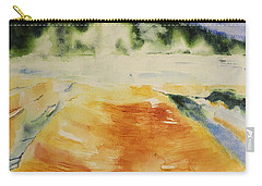 Yellowstone, Watercolor Gift, Souvenir  Carry-all Pouch by Geeta Biswas