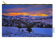 Carry-all Pouch featuring the photograph Yellowstone Winter Morning by Greg Norrell