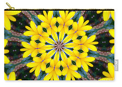 Yelow Floral Burst Carry-all Pouch