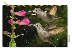 Carry-all Pouch featuring the photograph Yes We Are Twins by William Lee