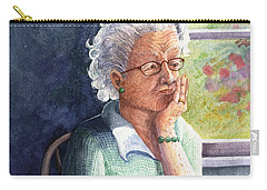 Carry-all Pouch featuring the painting Yesterday's Gone by Marilyn Smith