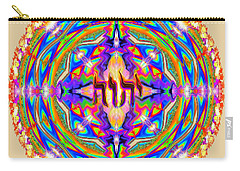 Yhwh Mandala 3 18 17 Carry-all Pouch by Hidden Mountain