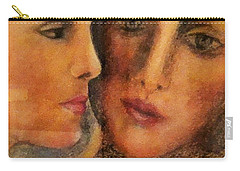 Carry-all Pouch featuring the pastel Yin-yang by Denise Fulmer