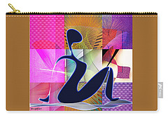 Carry-all Pouch featuring the digital art Yoga  8 by Iris Gelbart