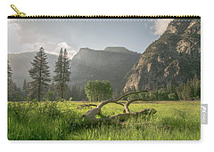 Sundown On The Valley Carry-all Pouch by Ryan Weddle
