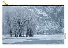 Carry-all Pouch featuring the photograph Yosemite - A Winter Wonderland by Sandra Bronstein