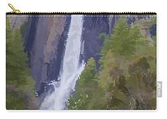 Yosemite Falls Digital Watercolor Carry-all Pouch