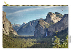 Yosemite Falls Carry-all Pouch by Walter Colvin