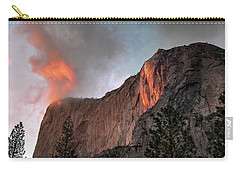 Yosemite, Horsetail Falls, Cloudy Sunset Carry-all Pouch