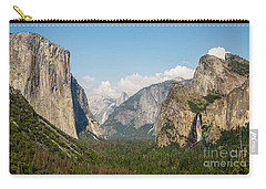Yosemite Tunnel View With Bridalveil Rainbow By Michael Tidwell Carry-all Pouch