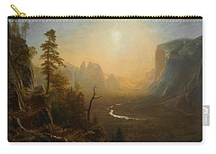 Yosemite Valley Glacier Point Trail Carry-all Pouch by Albert Bierstadt