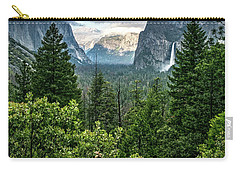 Last Light For Tunnel View Carry-all Pouch by Ryan Weddle