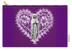 You Are Deeply Loved - Plum Background Carry-all Pouch