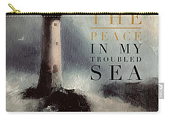 You Are The Peace In My Troubled Sea Lighthouse Carry-all Pouch