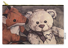 Carry-all Pouch featuring the painting You Should Not Trust Her by Olimpia - Hinamatsuri Barbu