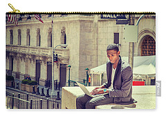 Young African American Man Working On Wall Street In New York Carry-all Pouch