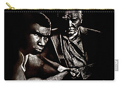 Young Boxer And Soon To Be World Champion Mike Tyson And Trainer Cus Damato Carry-all Pouch