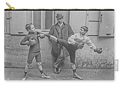 Carry-all Pouch featuring the painting Young Boxers by Artistic Panda