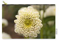 Carry-all Pouch featuring the photograph Young Dahlia by Brian Eberly