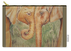 Young Elephants Carry-all Pouch