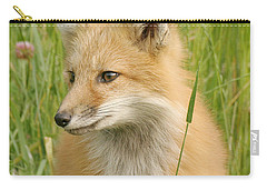 Carry-all Pouch featuring the photograph Young Fox by Doris Potter