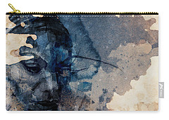 Carry-all Pouch featuring the mixed media Young Gifted And Black - Nina Simone  by Paul Lovering