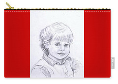 Young Girl Carry-all Pouch by Francine Heykoop