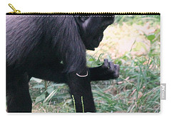 Carry-all Pouch featuring the photograph Young Gorilla by Laurel Talabere