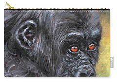 Young Gorilla Portrait Carry-all Pouch