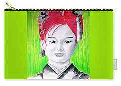 Young Japanese Beauty -- The Original -- Portrait Of Japanese Girl Carry-all Pouch