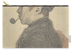 Carry-all Pouch featuring the painting Young Man With A Pipe Nuenen, March 1884 Vincent Van Gogh 1853 - 1890 by Artistic Panda