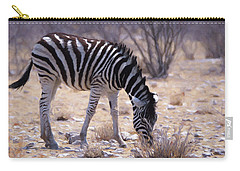 Young Plains Zebra Carry-all Pouch by Ernie Echols