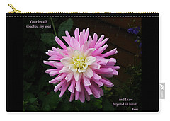 Carry-all Pouch featuring the photograph Your Breath Touched My Soul by Rhonda McDougall