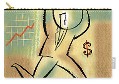 Carry-all Pouch featuring the painting Your Income by Leon Zernitsky