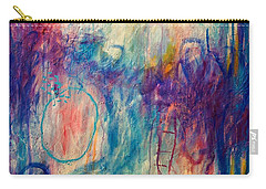 Carry-all Pouch featuring the painting Your Secret Is Safe With Me by Tracy Bonin