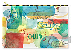 Carry-all Pouch featuring the painting Your True Calling by Erin Fickert-Rowland
