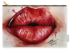 Carry-all Pouch featuring the painting Your  Whisper by Michal Madison