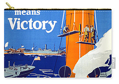 Your Work Means Victory Vintage Wwi Poster Carry-all Pouch