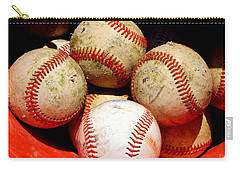Youth Baseball 6 Carry-all Pouch by David Gilbert