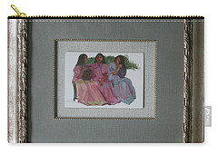 Youthful  Beauties Oil On Porcelain Carry-all Pouch