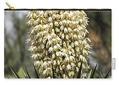 Carry-all Pouch featuring the photograph Yucca Flowers In Bloom  by Saija Lehtonen