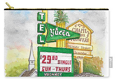 Yucca Motel And Little Chapel Of The Flowers, Las Vegas, Nevada Carry-all Pouch