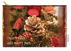 Carry-all Pouch featuring the digital art Yule Greetings 2017 by Kathryn Strick