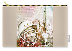 Yuri Gagarin - Cosmonaut 1961 Watercolor Carry-all Pouch