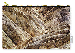 Carry-all Pouch featuring the photograph Zabriskie Point Drama by Janis Knight