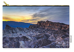 Zabriskie Point Sunset Carry-all Pouch by Charles Dobbs