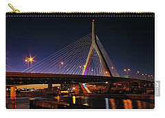 Zakim Bridge Boston Massachusetts At Night Carry-all Pouch by Betty Denise